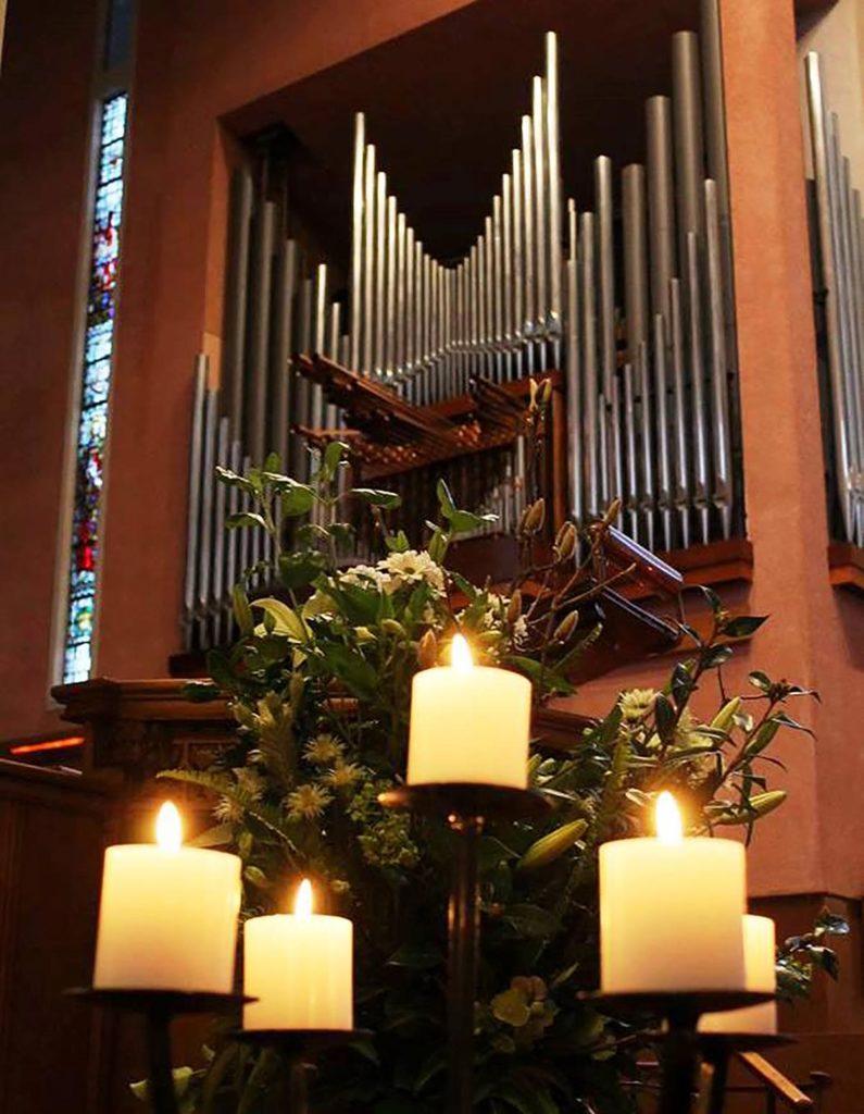 Waiapu Cathedral candles organ